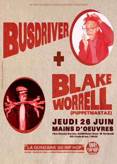 Blake Worrell & Busdriver @ Mains D'oeuvres concert