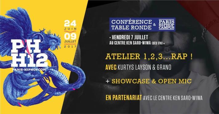 Affiche 7 Juillet paris hip hop